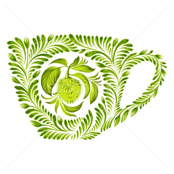 Dekoratif süs çay fincanı örnek doku Stok fotoğraf © VectorFlover
