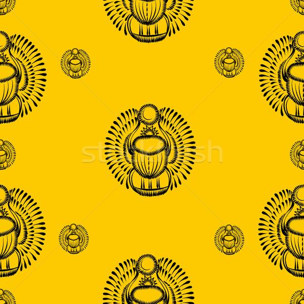 скарабей жук Египет бумаги текстуры Сток-фото © VectorFlover