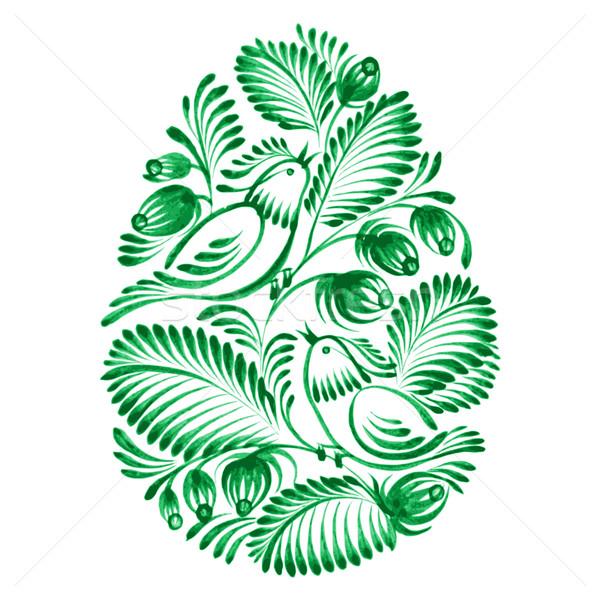 フローラル 装飾的な 飾り 手描き 実例 花 ストックフォト © VectorFlover