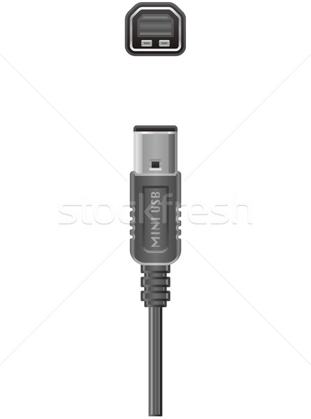 Stock photo: Computer cable