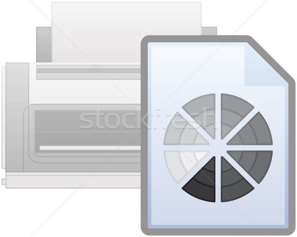Black & White Printer Icon Stock photo © Vectorminator
