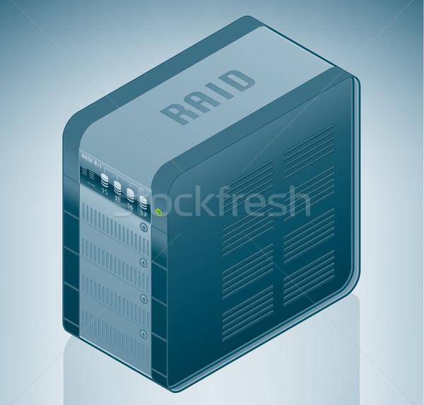 Sabit disk sürmek yedekleme birim izometrik 3D Stok fotoğraf © Vectorminator