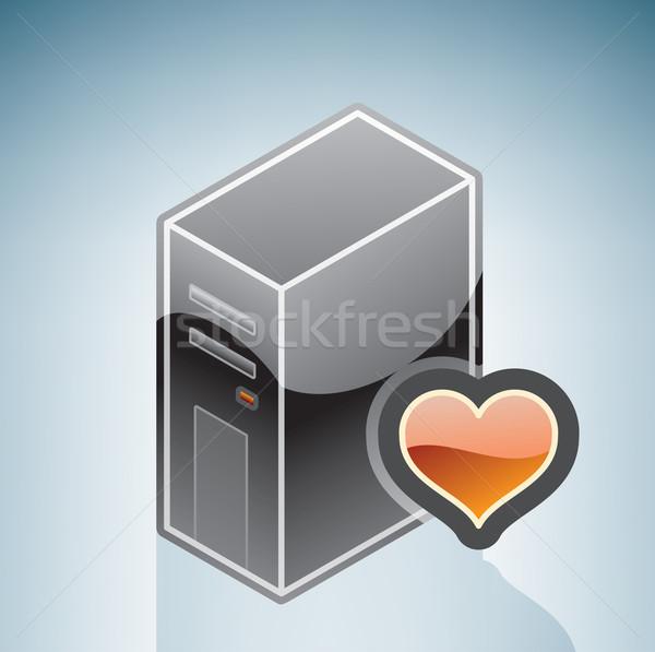 Kedvenc hardver konfiguráció izometrikus 3D számítógép Stock fotó © Vectorminator