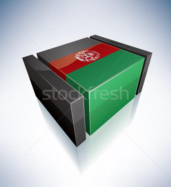 3D bandeira Afeganistão Ásia república Foto stock © Vectorminator
