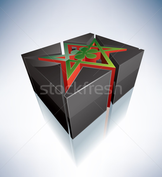 3D Religion: Thelema, Unicursal Hexagram Stock photo © Vectorminator