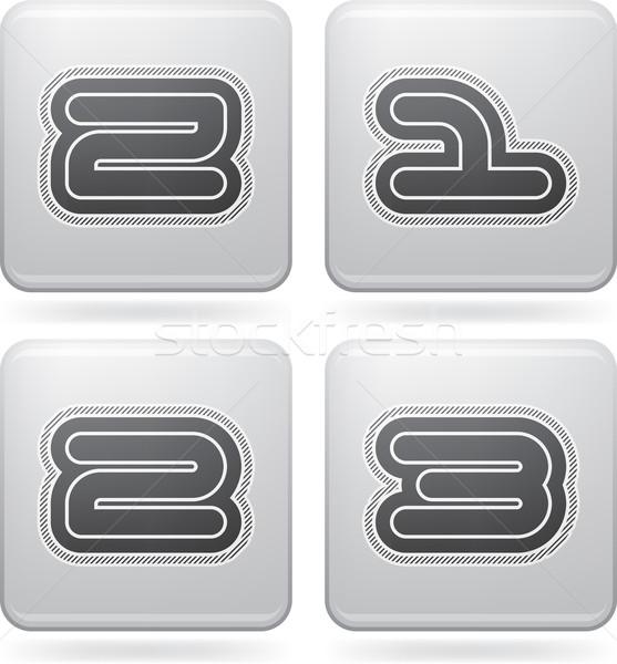 Levelek vám modern számjegyek összes ikonok Stock fotó © Vectorminator
