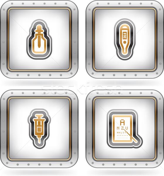 здравоохранения медицинской чрезвычайных иконки здесь право Сток-фото © Vectorminator