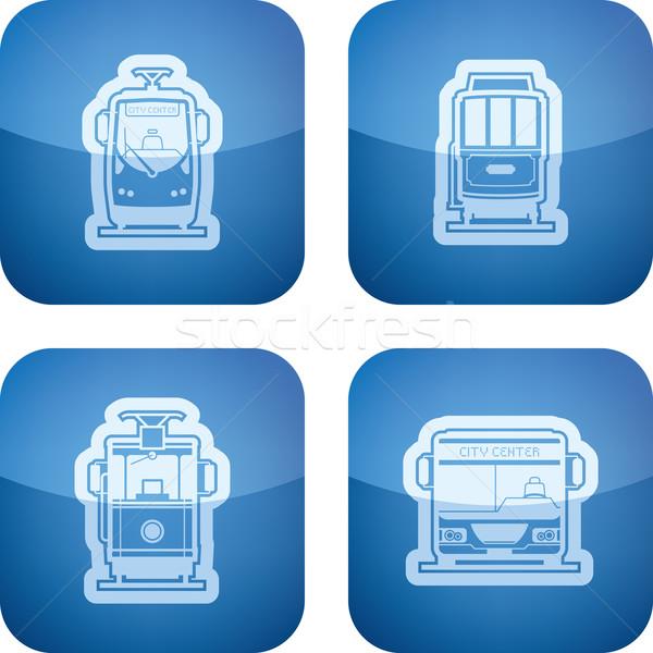 Taşımacılık toplu taşıma arazi araçlar burada Stok fotoğraf © Vectorminator