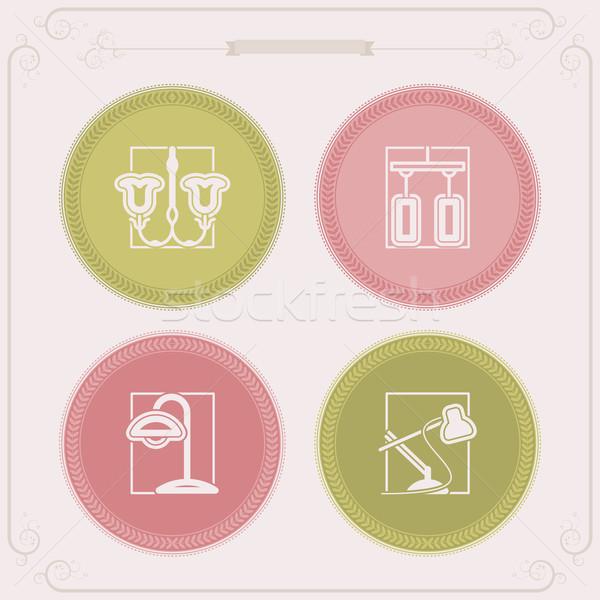 Keuken huis objecten klassiek Stockfoto © Vectorminator