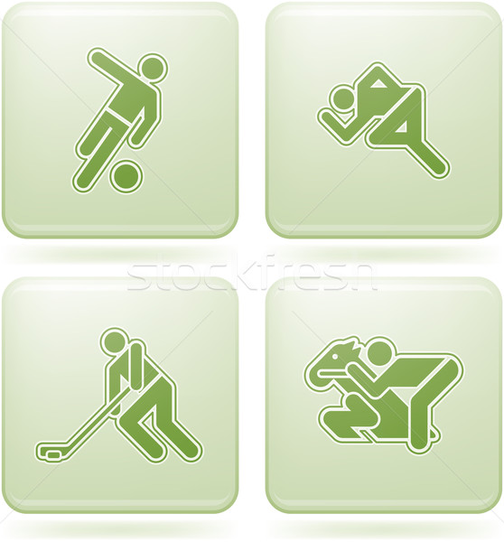 Olivine Square 2D Icons Set: Sport Stock photo © Vectorminator
