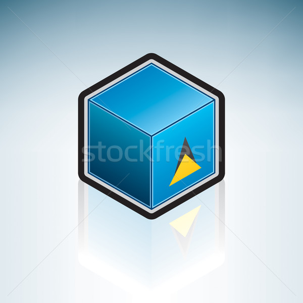 Saint Lucia { Latin America } Stock photo © Vectorminator