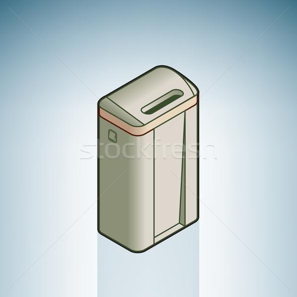 Atık konteyner modern mobilya izometrik 3D Stok fotoğraf © Vectorminator