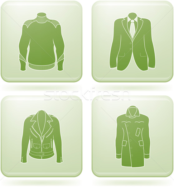 Olivine Square 2D Icons Set: Man's Clothing Stock photo © Vectorminator