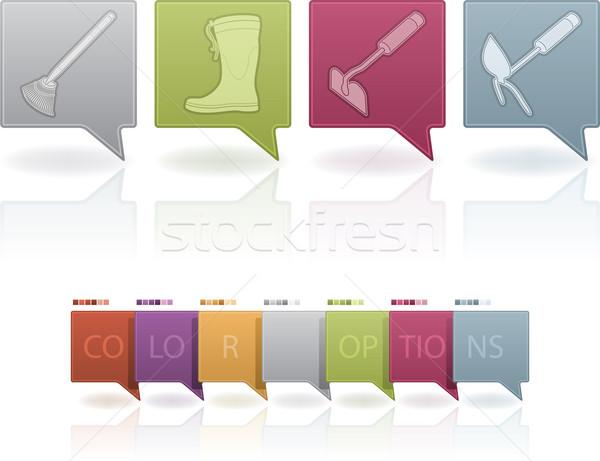 Sport schoenen tuinieren hand tools Stockfoto © Vectorminator