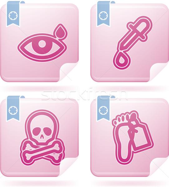 Opieki zdrowotnej ikona tutaj oka spadek Zdjęcia stock © Vectorminator