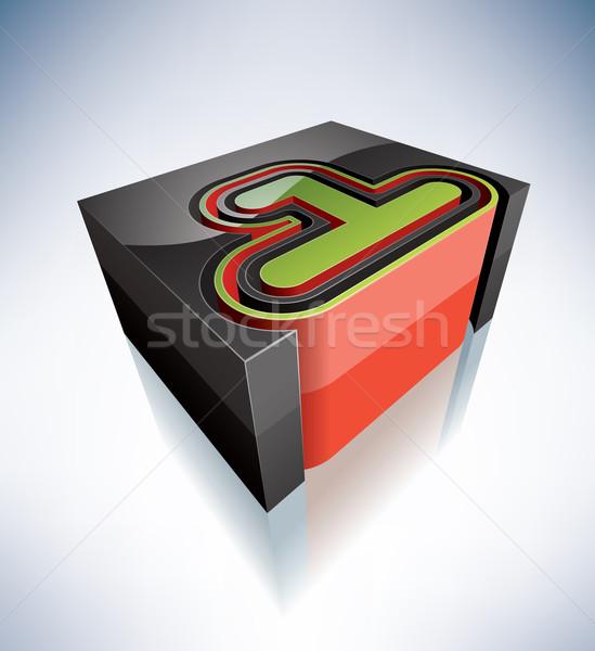 3D cyfry alfabet cyfra Zdjęcia stock © Vectorminator