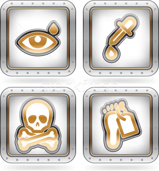Opieki zdrowotnej ikona oka spadek Zdjęcia stock © Vectorminator