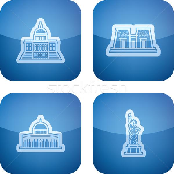 World Landmarks Stock photo © vectorminator