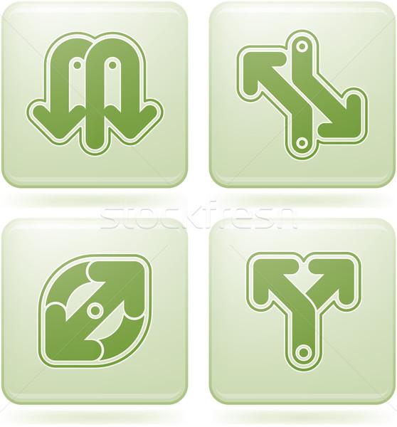 Cuadrados resumen instrucciones iconos de la web Foto stock © Vectorminator