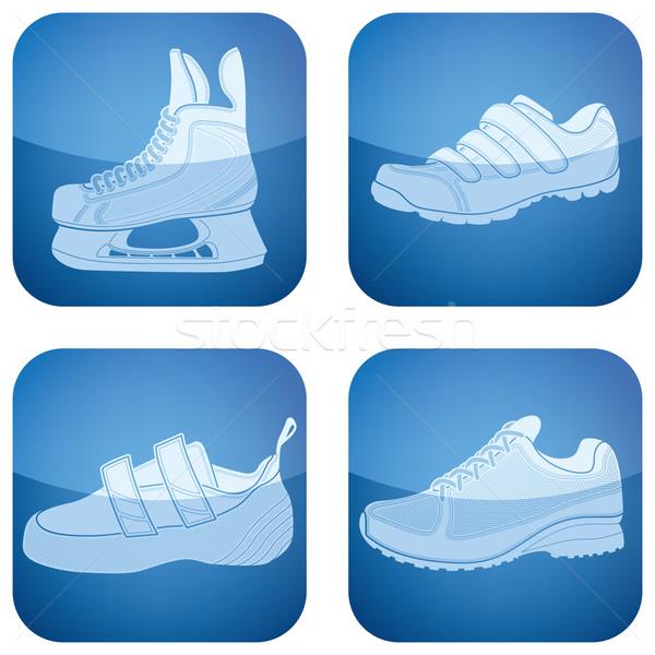 Deporte zapatos deportes aquí Foto stock © Vectorminator