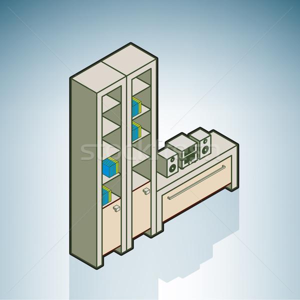 壁 ユニット 現代 家具 アイソメトリック 3D ストックフォト © Vectorminator