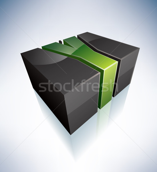 Three-dimensional Y Letter Stock photo © Vectorminator