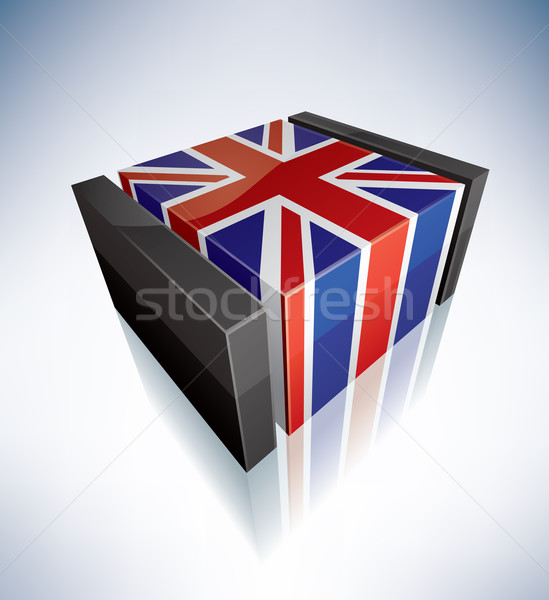3D flag of Great Britain Stock photo © Vectorminator