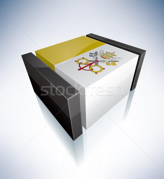 3D bandera Ciudad del Vaticano banderas Europa Foto stock © Vectorminator