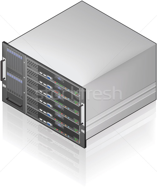 Server eenheid isometrische 3D icon computer Stockfoto © Vectorminator