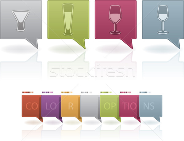 Alcohol glasses Stock photo © Vectorminator
