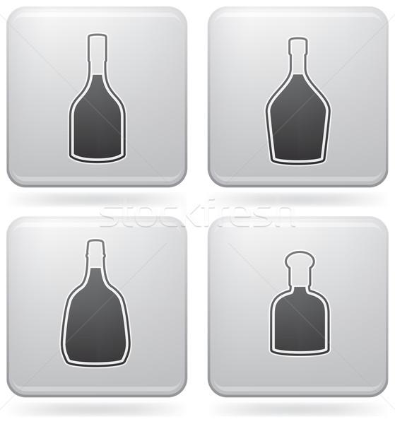 Alkoholu butelek piwa wódki tutaj Zdjęcia stock © Vectorminator