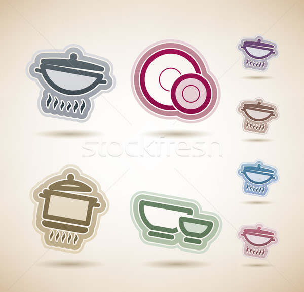 Kitchen Utensils Stock photo © Vectorminator