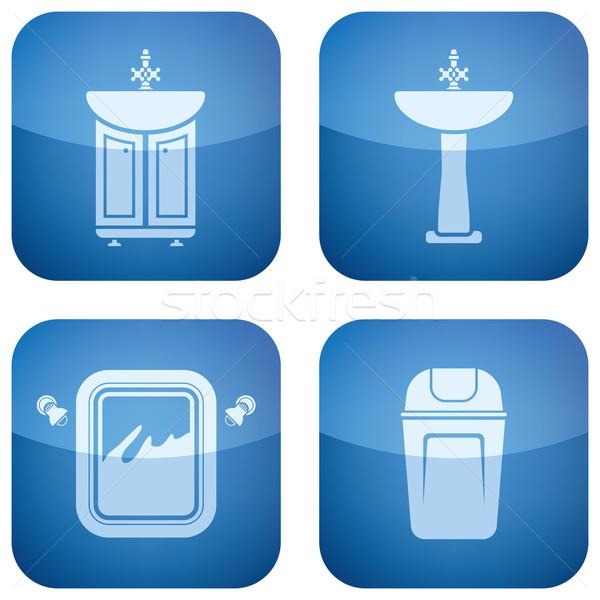 Banyo her gün nesneler tuvalet duş Stok fotoğraf © Vectorminator