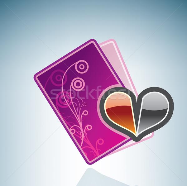 カード 失恋 アイソメトリック 3D コンピュータ ハードウェア ストックフォト © Vectorminator
