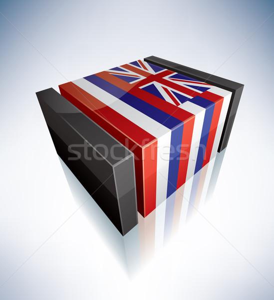 Stok fotoğraf: Bayrak · polinezya · Hawaii · 3D · bayraklar