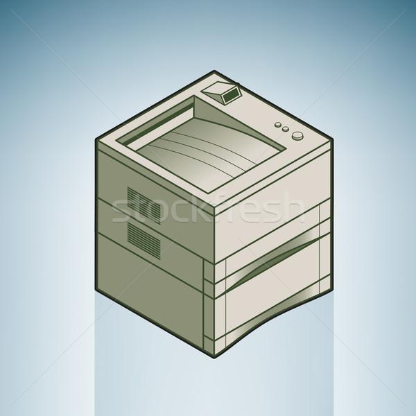 Büyük ofis lazer yazıcı modern mobilya Stok fotoğraf © Vectorminator