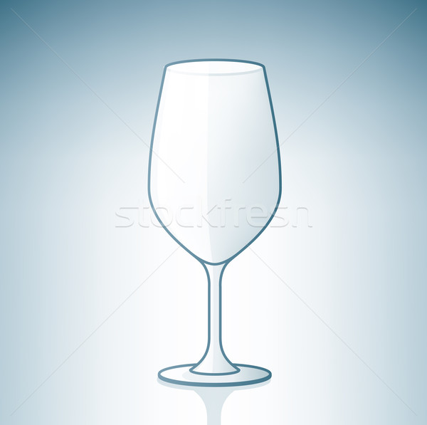 Stock photo: Empty Wine Glass