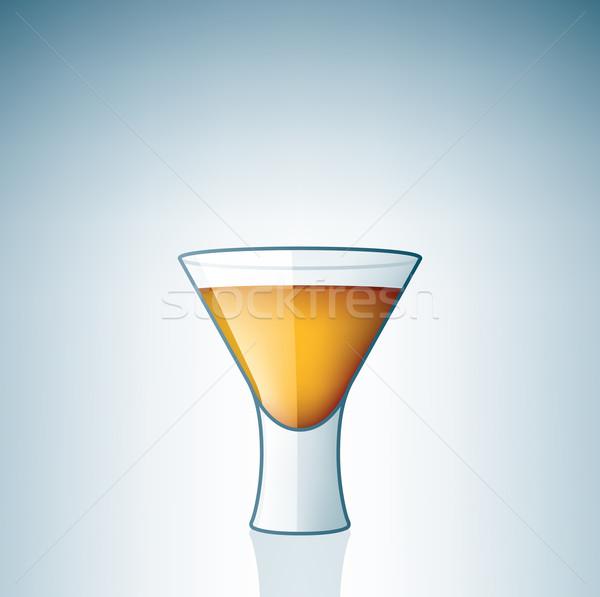 Votka cam alkol içmek beyaz Stok fotoğraf © Vectorminator