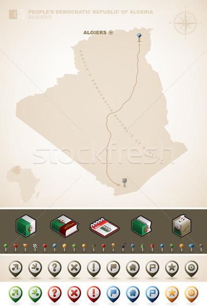 People's Democratic Republic of Algeria Stock photo © Vectorminator