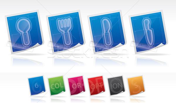 кухне повседневный план стиль Сток-фото © Vectorminator