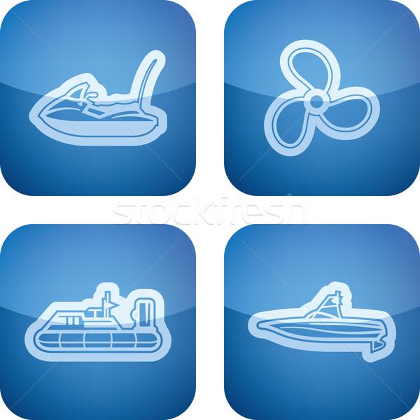 Navi barche vettore icone altro parente Foto d'archivio © Vectorminator