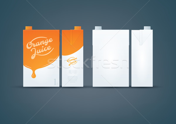 Orange / White Carton box mock-up Stock photo © Vectorminator