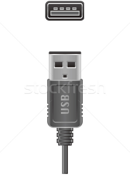 Câble d'ordinateur usb type plug socket ordinateur Photo stock © Vectorminator