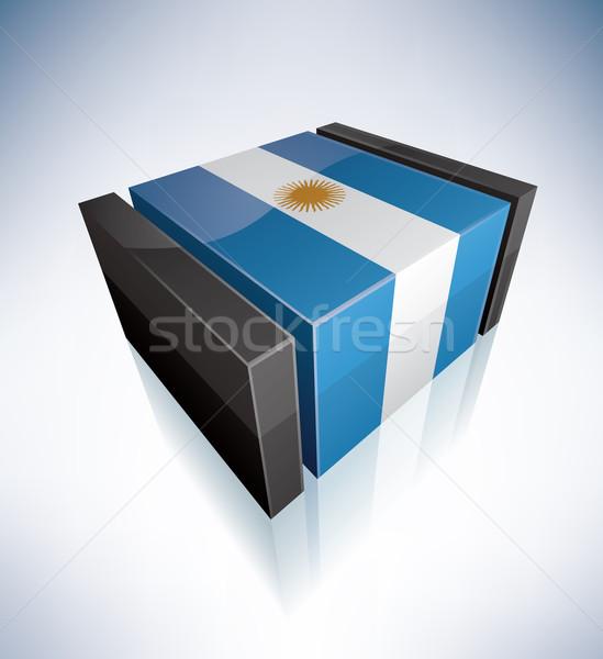 3D флаг Аргентина Карибы республика флагами Сток-фото © Vectorminator