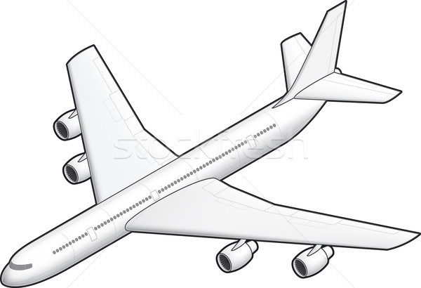 Airplane Stock photo © Vectorminator