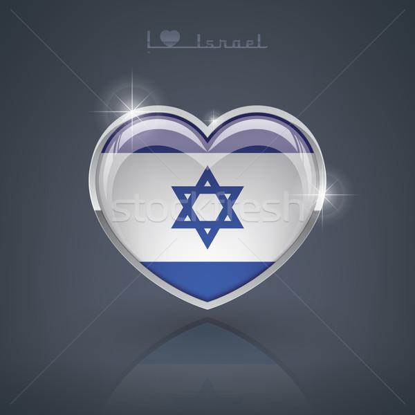 Israele lucido a forma di cuore bandiere cuore Foto d'archivio © Vectorminator