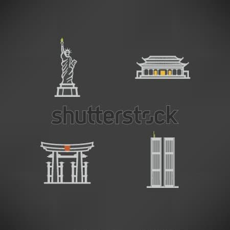 Мир известный архитектура вокруг статуя свободы Сток-фото © Vectorminator