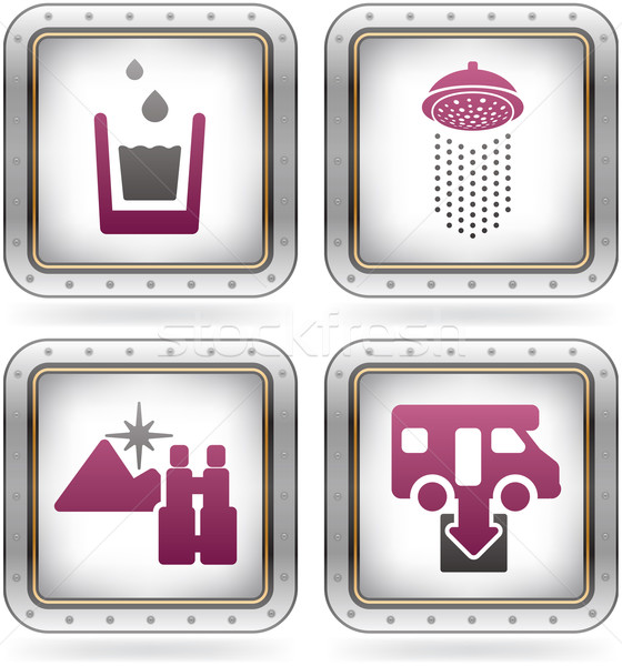 Camping Icons Stock photo © Vectorminator