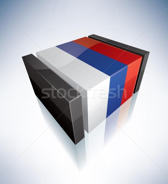 3D flag of Srpska Stock photo © Vectorminator