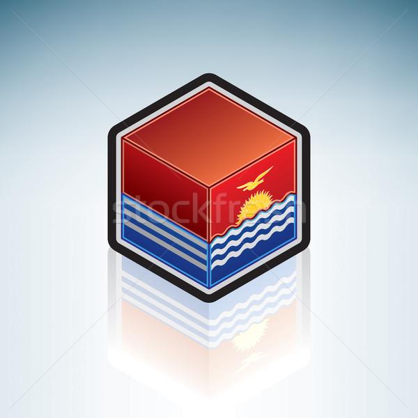 Кирибати Океания флаг республика 3D изометрический Сток-фото © Vectorminator